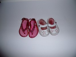 Jelly Sandals & Moccasins  Size 4 Jelly Sparkle Rhinestones Cushioned Lo... - $9.90