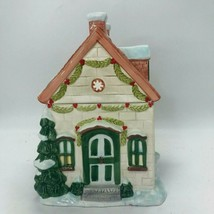 Pfaltzgraff Winterberry Christmas Cookie Jar Holidays Gingerbread House - $49.99