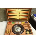 Pacific Game Co Roulette Multi Game Box Vintage Gambling Travel Case (a21) - $29.70