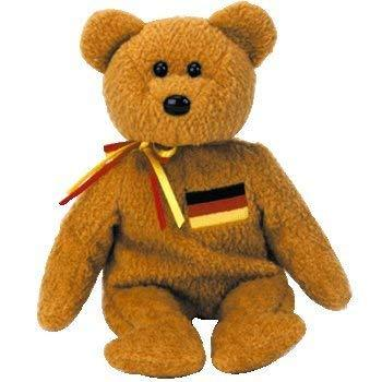 TY Beanie Baby - GERMANIA the Bear (German Exclusive)1st Version w/English writi