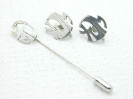 1979 Leonore Doskow 925 Sterling Silver Modernist YMJ Monogram Set Vintage - $99.00