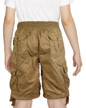 Boys Elastic Waist Drawstring Multi Pocket Cotton Toddler Kids Cargo Shorts image 7