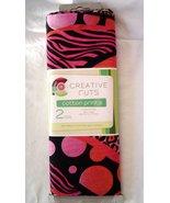 Creative Cuts Animal Prints Pink Orange 2 Yards 100% Cotton Sewing Fabri... - $16.99