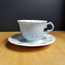 Metlox Vernonware True Blue Cup and Saucer Set (1) ONE 1950's - $4.94
