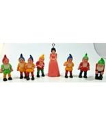 Vintage Disney Snow White & The Seven Dwarfs Christmas Tree Ornaments/Fi... - $24.74