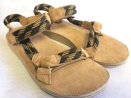 Teva Women's Original Universal Rope Suede Footbed Sandals Black Olive 1... - $59.99