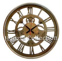 """18"""" Large Heavy Ship's Clock Nautical Antique Brass Roman Numeral Wall C... - £198.95 GBP"""