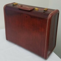 Vtg Samsonite Shwayser Brothers Hard Case Dark Brown Small Suitcase 19 N... - $29.69