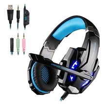 WEIE G9000 Gaming Headset, Surround Sound Gaming Headphone for Xbox One (BLUE) - $30.07