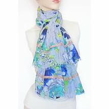 New STEVE MADDEN Illustrated Floral Oversize Scarf Embellished Womens Shawl - €8,26 EUR