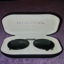 Polar Optics Clip On Eyeglasses Sunglasses Shades With Hard Case MT1 - $9.45