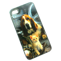 3D HOLOGRAM CASE FOR iPHONE 4S 4 PUPPY & CAT HARD COVER - $132,25 MXN