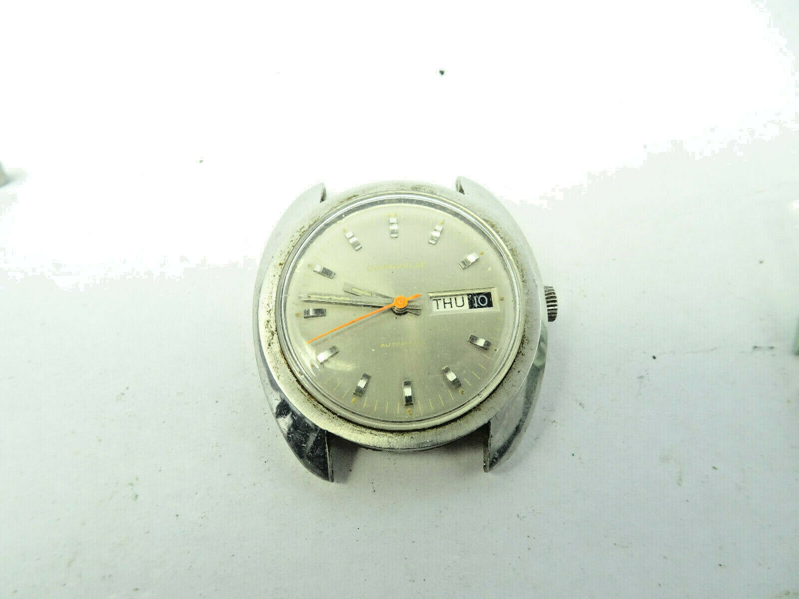 Primary image for VINTAGE 1970 CARAVELLE 11 UKACB STAINLESS STEEL day date AUTOMATIC WATCH RUNS