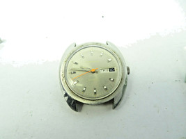 VINTAGE 1970 CARAVELLE 11 UKACB STAINLESS STEEL day date AUTOMATIC WATCH... - $125.00