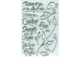 Stampendous Encouraging Words Stamp Set #SSC134 - $9.99