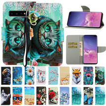 For Samsung A30 A50 A70 S10 A20E Note 10+ Painted Leather Wallet Card Ca... - $61.50
