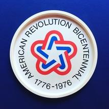 """Vintage 70s 1776-1976 bicentennial round metal 11"""" tray image 7"""