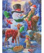 PUZZLE..JIGSAW...JONES..Who's Decorating The Snowman...300 Piece..Factory Sealed - $14.99