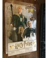 "Harry Potter Quidditch Draco Malfoy Doll Figure Broomstick 12"" Mattel GDJ71 - $14.01"