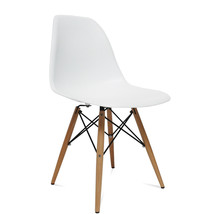 Fine Mod Imports WoodLeg Dining Side Chair, White - $85.00