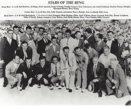 Stars Of The Ring 8X10 Photo Boxing Picture Tunney Conn Dempsey With Names - $3.95