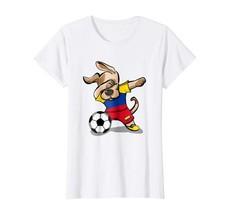 Dog Fashion - Dog Dabbing Soccer Colombia Jersey Shirt Colombian Footbal... - $19.95+