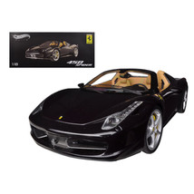 Ferrari 458 Spider F1 Glossy Black Elite Edition 1/18 Diecast Car Model ... - $149.09