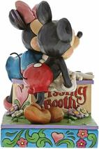 "6"" Kissing Booth Mickey & Minnie Mouse Figurine - Jim Shore Disney Traditions image 3"