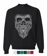 Bandana Skull Sweatshirt Badass Gangsta Swag Dead - $17.66 - $27.99