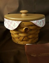 Longaberger 2007 HORIZON OF HOPE Breast Cancer Awareness Basket Liner Wo... - $19.95