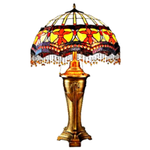 Victorian Parlor Tiffany-Style Stained Glass Table Lamp - £307.18 GBP