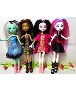 4pcs Monster High Doll Lot Set Dolls Monster Draculaura hight Moveable J... - $18.45