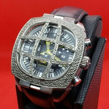 Collectible Rare Vintage Designer Locman Italy Watch with Real Diamonds ... - $345.51