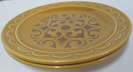 "2 Homer Laughlin Harvest Gold 7-1/8"" Salad Dess... - $10.93"