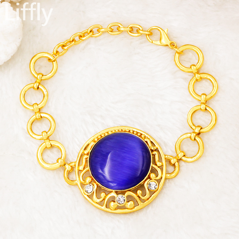 2019 Creative Luxury 24 Gold Jewelry Sets Crystal Necklace Ring Earring Charm Br image 3