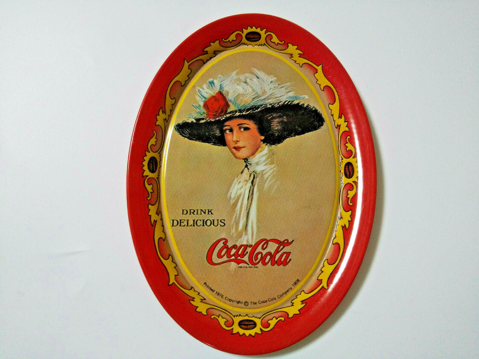 Primary image for CocaCola Tray 1976' Accessory tray Red Old Rare Goods