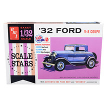 Skill 2 Model Kit 1932 Ford V-8 Coupe Scale Stars 1/32 Scale Model by AMT AMT118 - $42.63