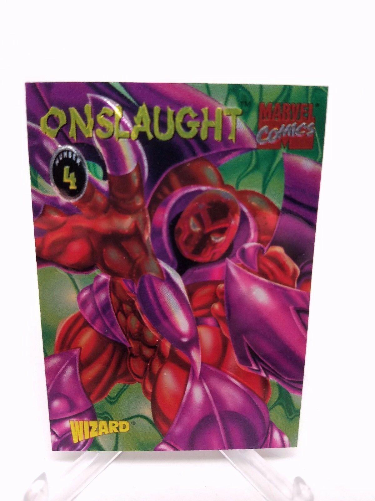 1994 Fleer Skybox Marvel Wizard Onslaught #4 Card NM/M