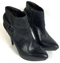 Jessica Simpson Vinata 10M Ankle Bootie Platform Stiletto Heels Chains Side Zip  image 5