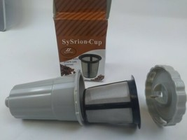 Sysrion K-cup. Handy reusable coffee filter...tan colored. Ships from usa - $8.88