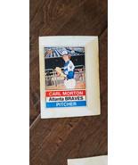 1976 HOSTESS TWINKIES FULL UNCUT CARD CARL MORTON ATLANTA BRAVES EXPOS N... - $7.99