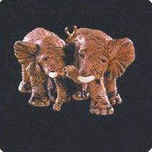 QXM4224 African Elephants Noah's Ark Set 1996 Hallmark Miniature Keepsak... - $17.82