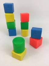Fisher Price Shape Sorter Toy Blocks Vintage 80s Replacement Lot (11) Pi... - $18.76
