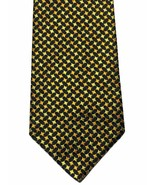 Tommy Hilfiger Tie Metallic Gold Stars WOVEN Silk Necktie Made In USA - $6.93