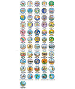 US Statehood Quarters COLORIZED Legal Tender * 56-Coin Complete Set * w/... - $98.95