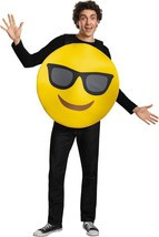 Emoticon Emoji Sunglasses Costume Yellow Adult Halloween Unique Funny DG... - €43,84 EUR