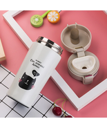 Cute cat print Travel Portable Stainless Steel Vacuum Flask Thermos Coff... - $19.99