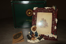 """Boyds Bears Picture Frame """"Edmund . . . The Night Before Christmas"""" - $25.00"""