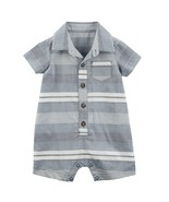 Carter's Baby Boy Striped Woven Romper One-Piece - New Born - $11.63