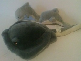 Vintage Sea World Plush Toys Stingray Baby Dolphins - $11.88